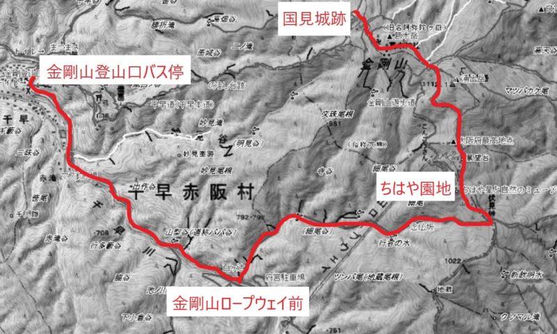 金剛山の地図画像