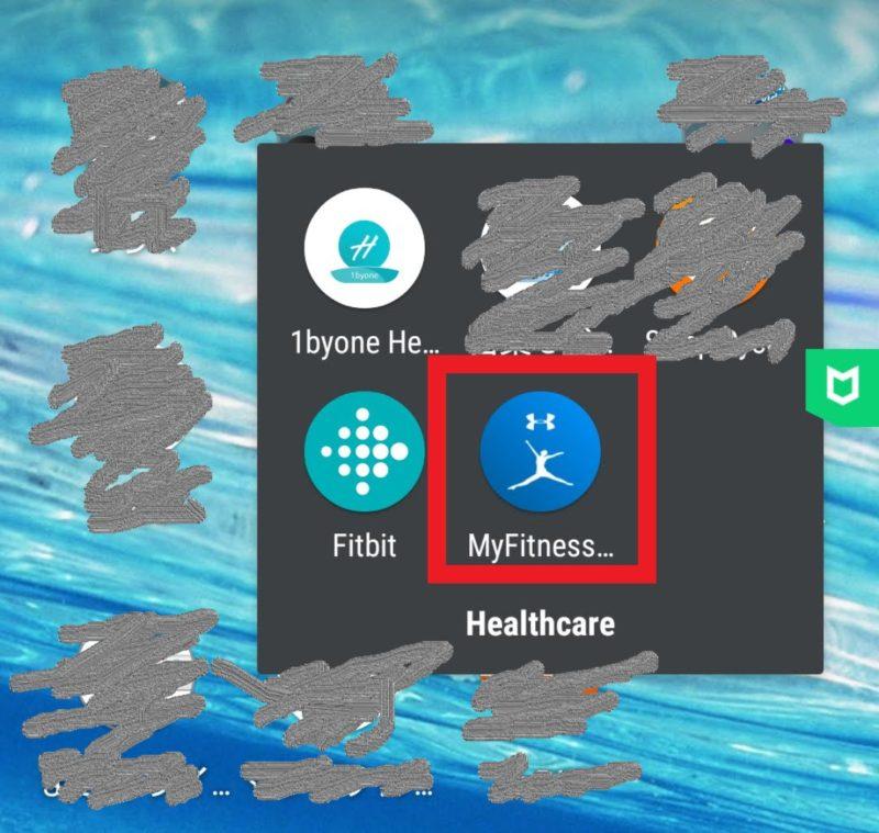 スマホで表示される『MyFitnessPal』のアイコン画像